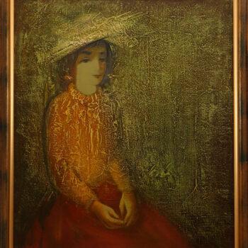 Карины 1991 хм 5 350x350 - Портрет Карины, 80х70, х.м., 1991
