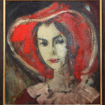 Наиры 2016 хм 3 350x350 - Naira's portrait, 55х55, oil on canvas, 2016