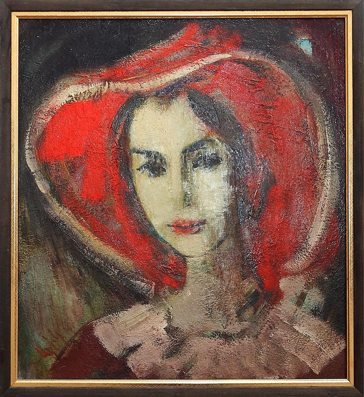Наиры 2016 хм 3 - Naira's portrait, 55х55, oil on canvas, 2016