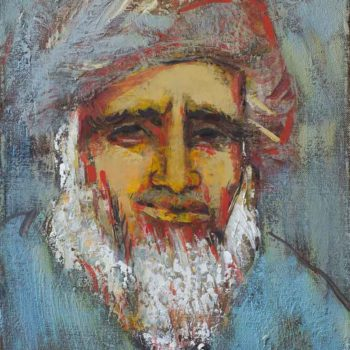 старика 2009 хм 40х30 350x350 - Portrait of an oldman, 40х30, oil on canvas, 2009