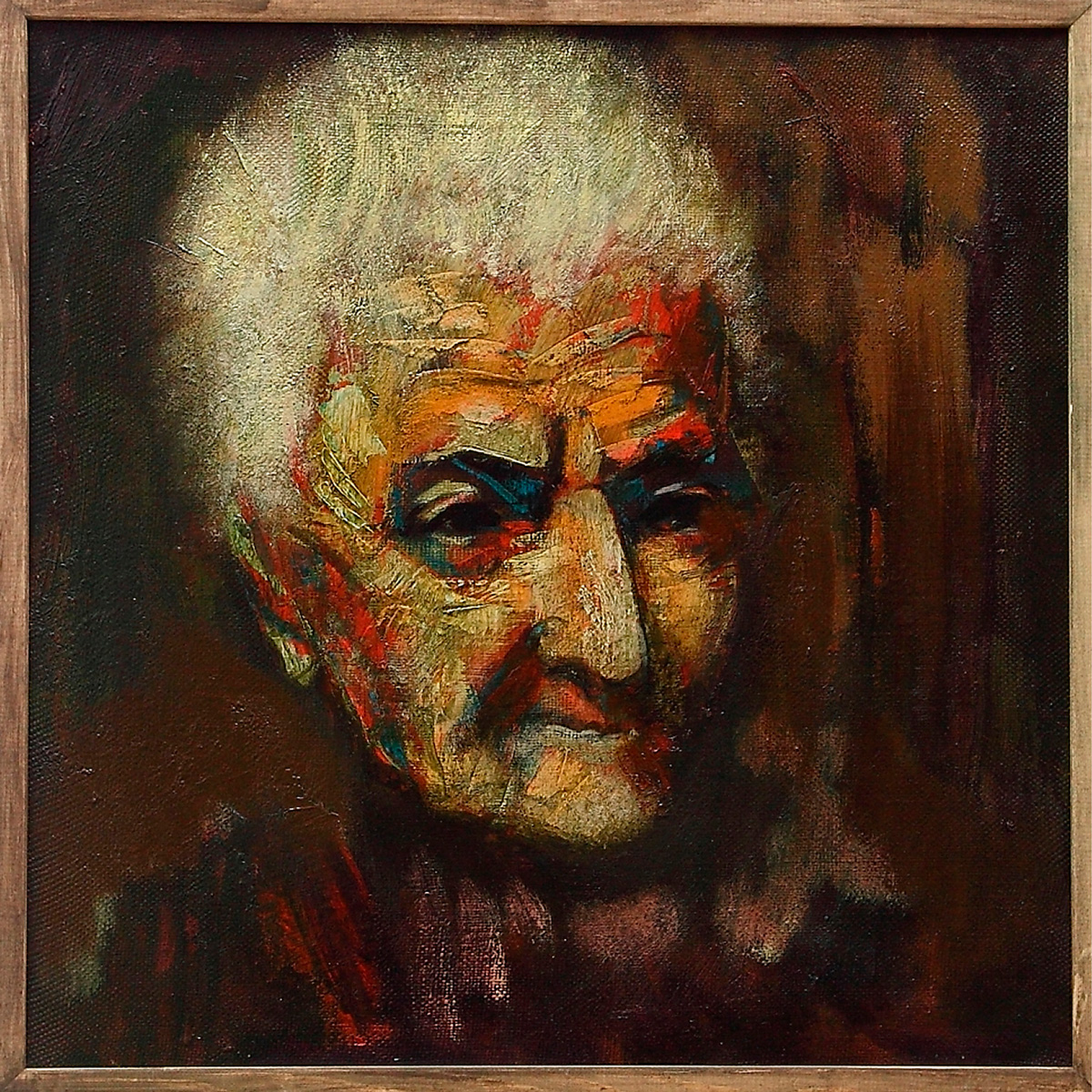старухи 50х50 х - Portrait of an Oldwoman, 50x50, oil on canvas, 2011