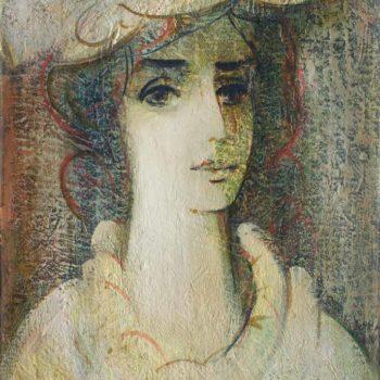 портрет. Холст масло. 49х34. 1994 350x350 - Светлый портрет, 49х34, х.м., 1994