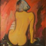Sitting model, 85х80, oil on canvas, 2009