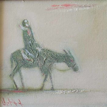 путница 1996 х.м. 28х28 350x350 - Lonely Wayfarer, 28x28, oil on canvas, 1996