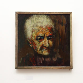 старухи 50х50 х.м. 2011 350x350 - Portrait of an Oldwoman, 50x50, oil on canvas, 2011