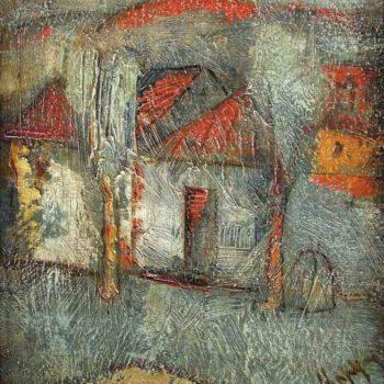 """пейзаж км 26х24 2004 350x350 - <b>Юрий Григорян в выставочном зале """"Новый манеж""""</b><br>""""Армения и мир"""", февраль 2011 г."""