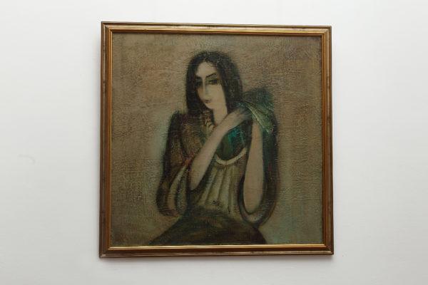 волосы х.м. 1991 80х80 600x400 - Portraits